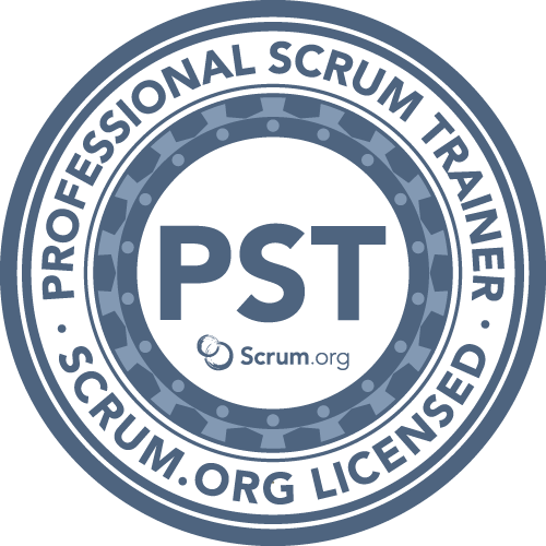Professional Scrum Trainer - PST badge